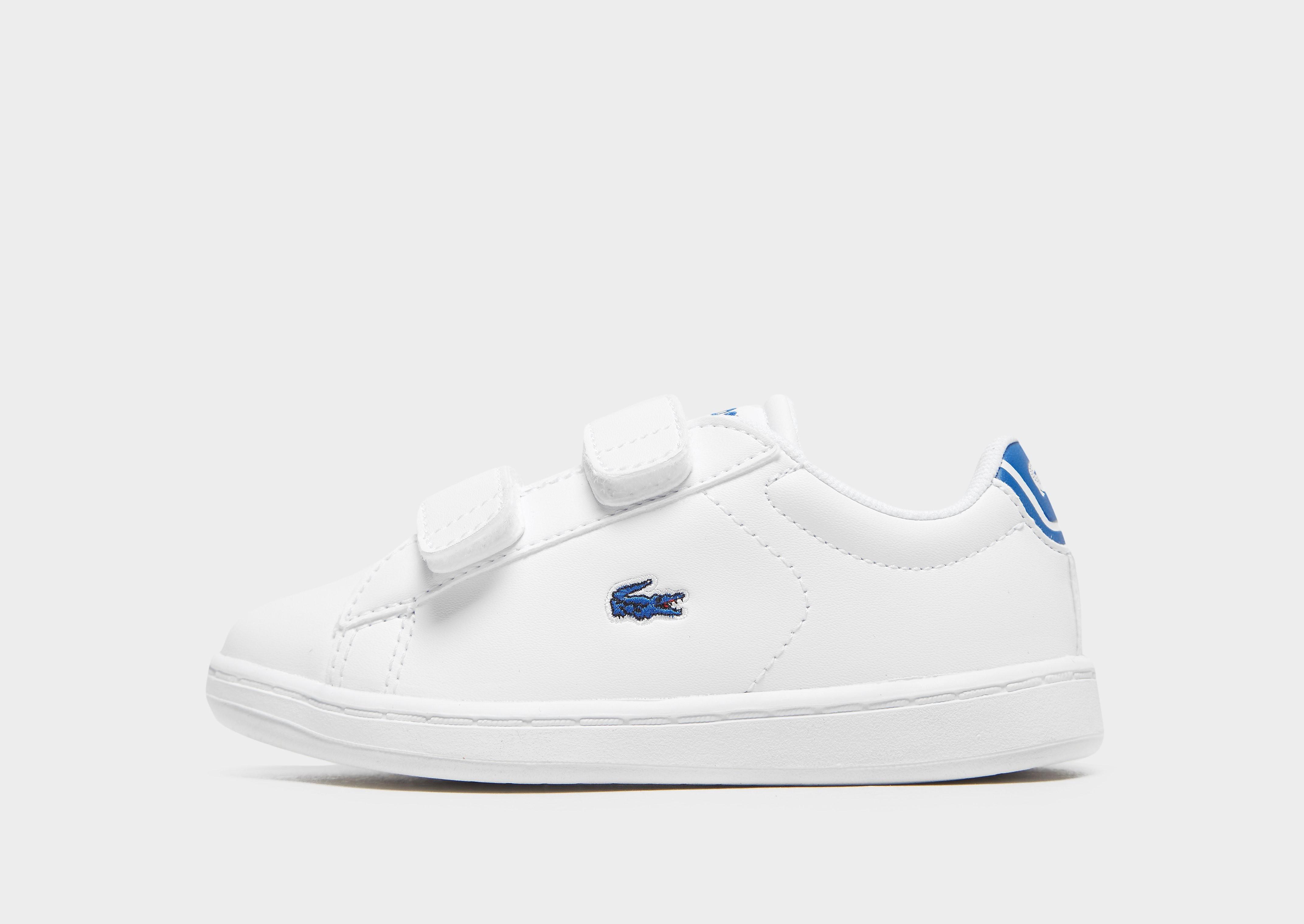 Lacoste kindersneaker wit en blauw