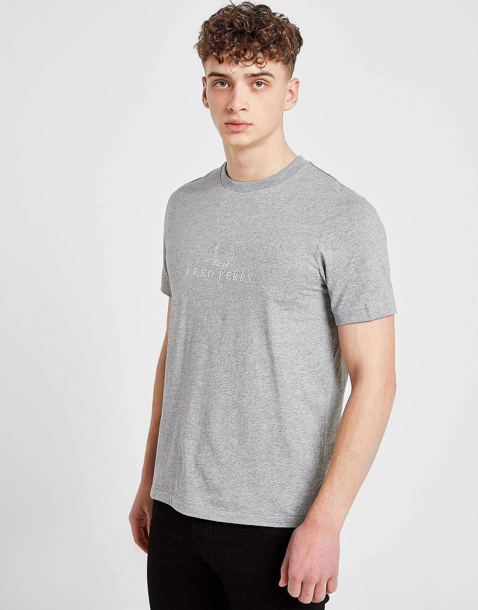 Fred Perry Embroidered T-Shirt - Grijs - Heren