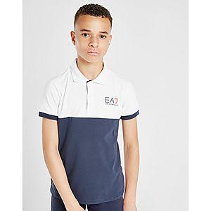 5e9aab21 Emporio Armani EA7 Colour Block Polo Shirt Junior ...
