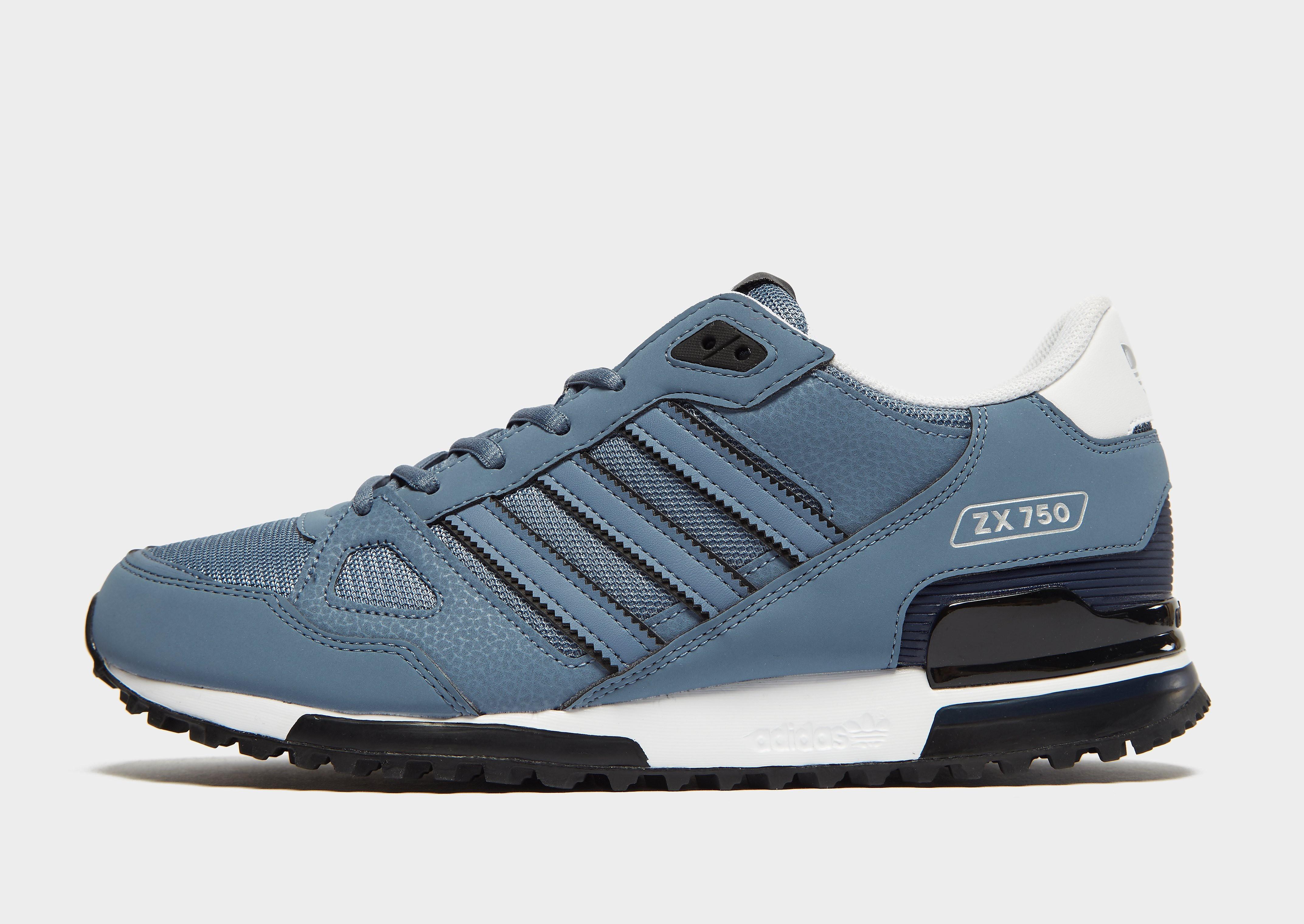Adidas ZX 750 herensneaker grijs en blauw