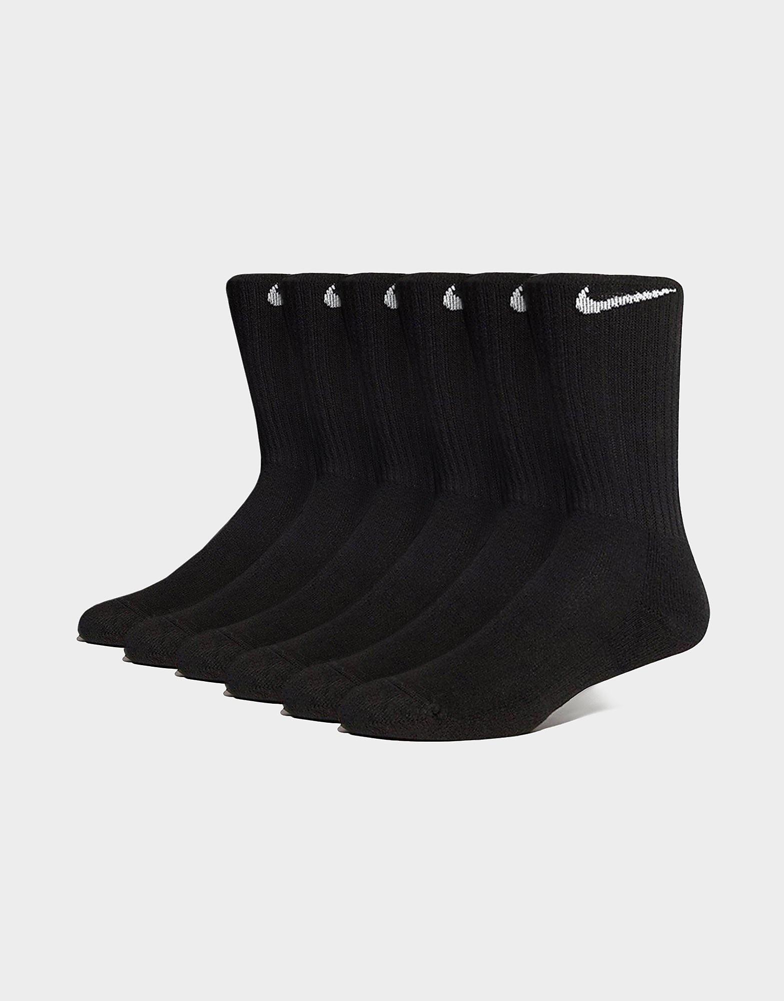 Nike 6 Pack Cushion Crew Socks Heren Zwart Heren