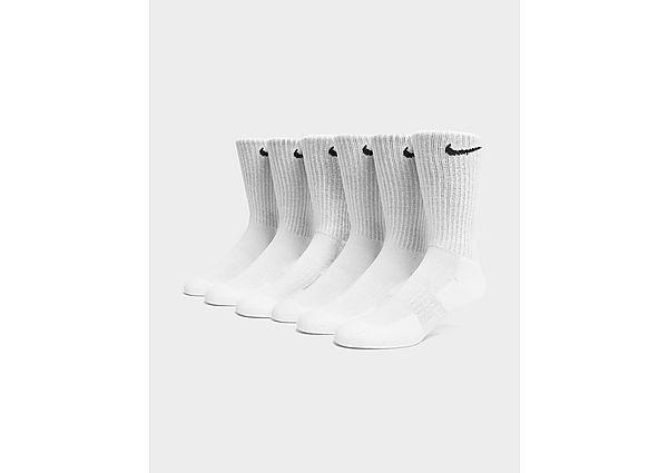 Nike calcetines 6 Pack Cushion Crew, Black