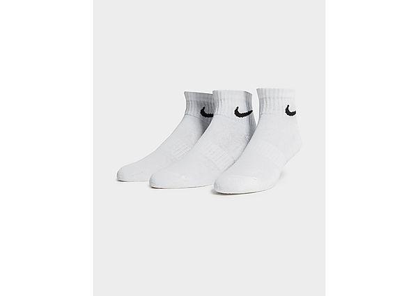 Nike 3-Pack Lightweight Quarter Socks, Black