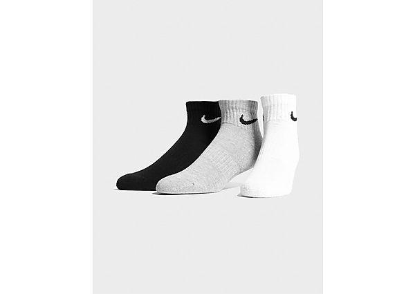 Nike calcetines 3-Pack Lightweight Quarter, Grey/Black