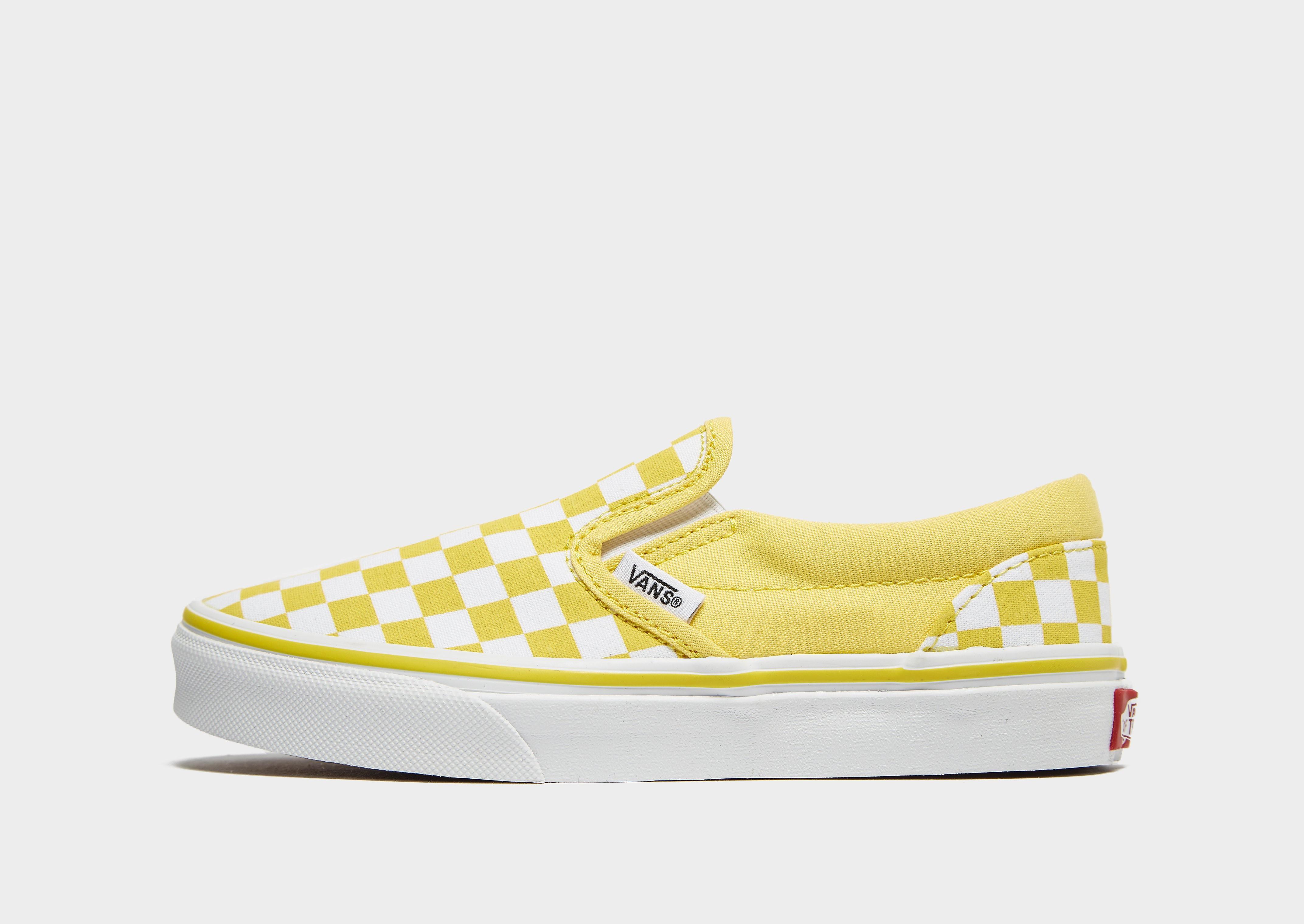 Vans Classic Slip-On kindersneaker geel en wit