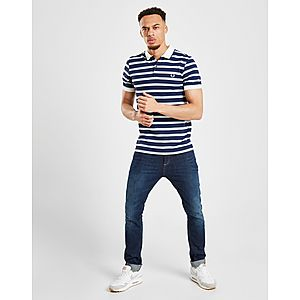 49132db6c49 ... Fred Perry Stripe Pique Short Sleeve Polo Shirt