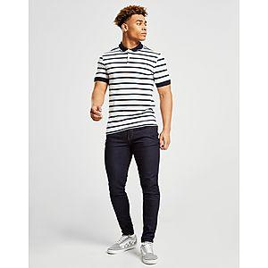 cd969a3739 ... Fred Perry Stripe Pique Short Sleeve Polo Shirt