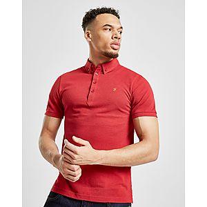 1e4ddf281a8d96 Farah Merriweather Short Sleeve Polo Shirt ...