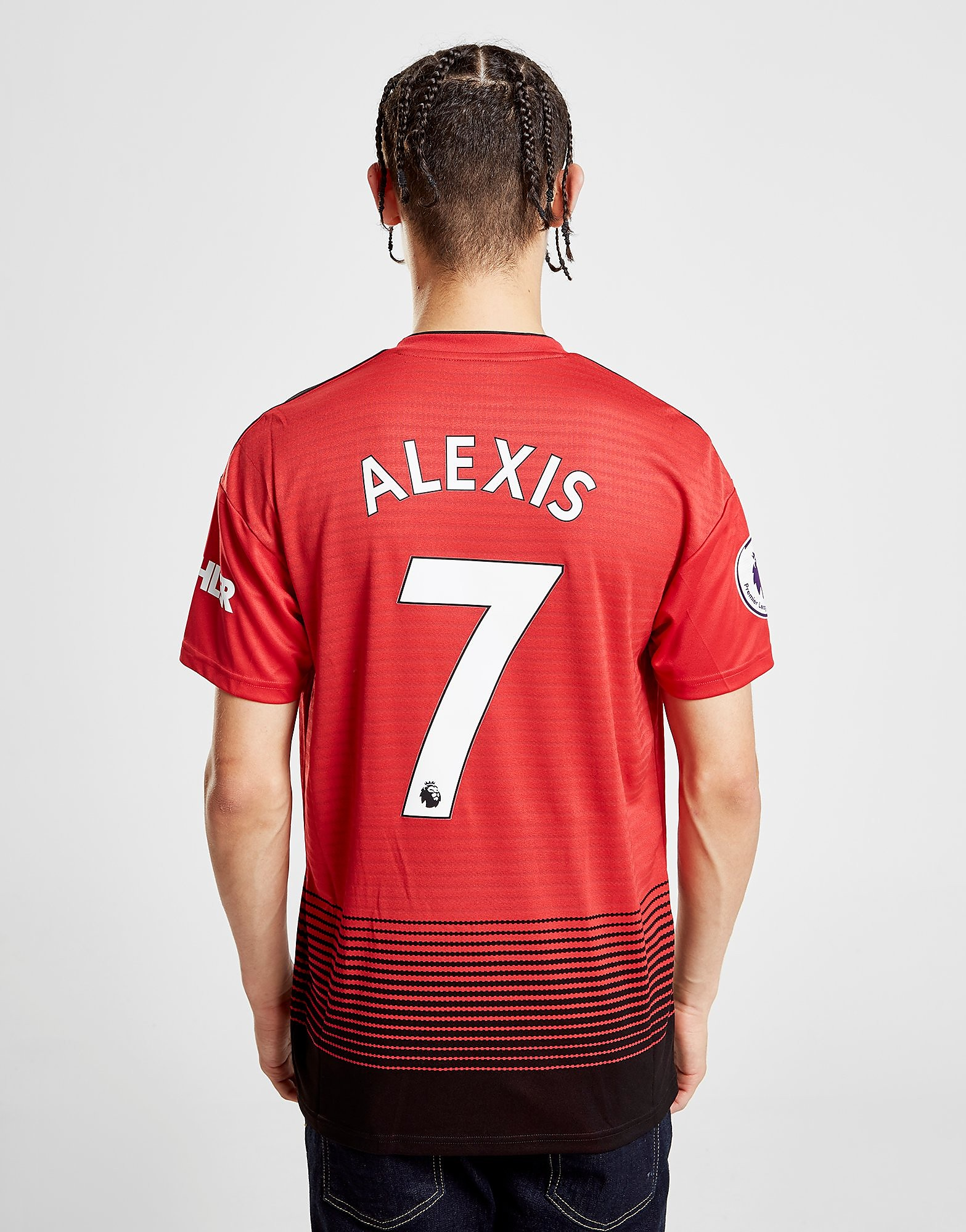 adidas Manchester United FC 2018/19 Alexis #7 Home Shirt - Rood - Heren
