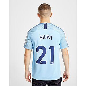 aa9ff7c7315d Nike Manchester City FC 2018 19 Silva  21 Home Shirt ...