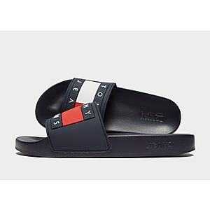 outlet store 64837 4be45 Tommy Jeans Flag Slides Womens ...