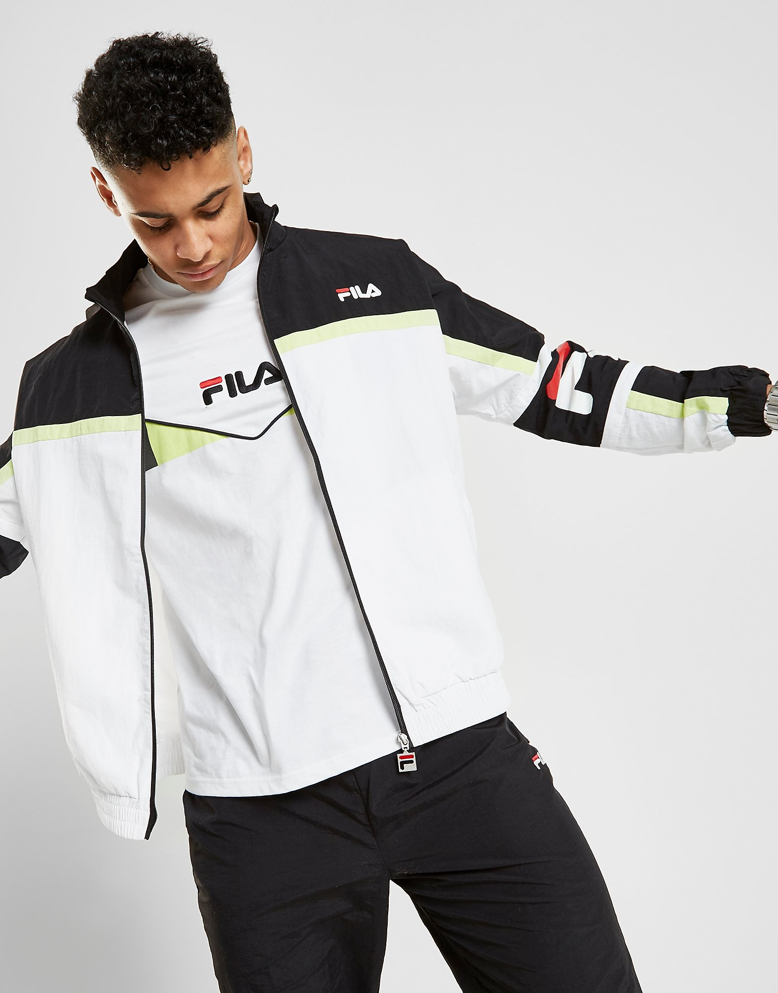Fila Houston Woven Track Top Heren - alleen bij JD - Wit - Heren