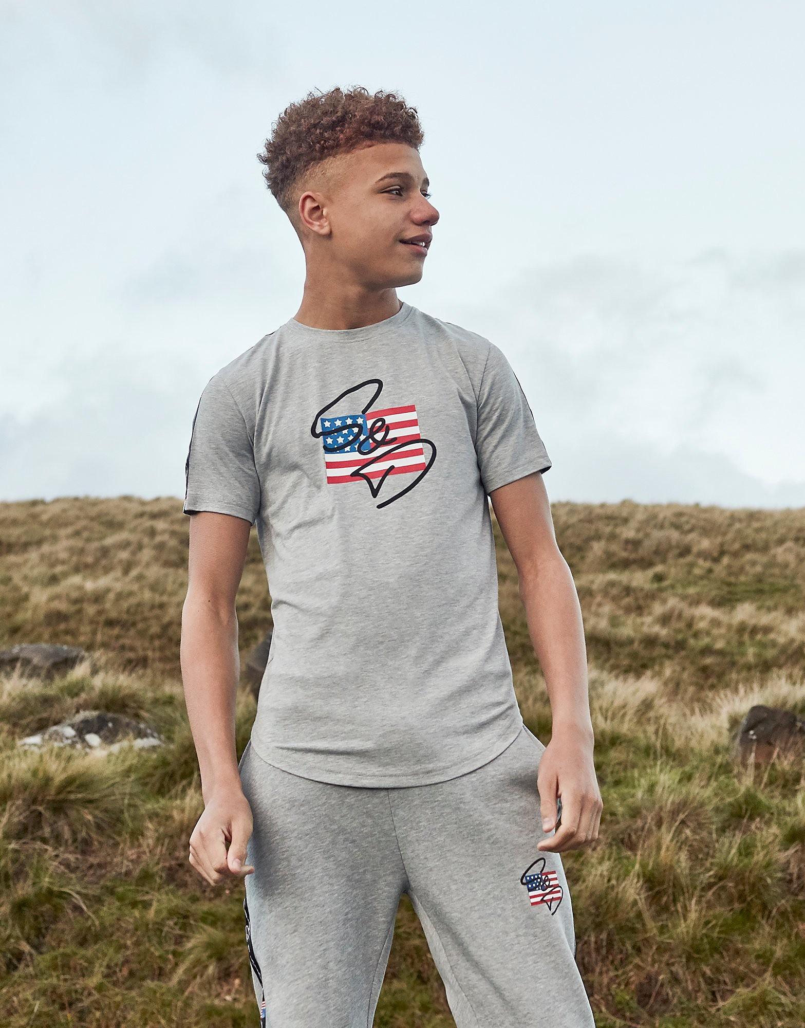 Supply & Demand USA T-Shirt Junior - alleen bij JD - Grijs - Kind