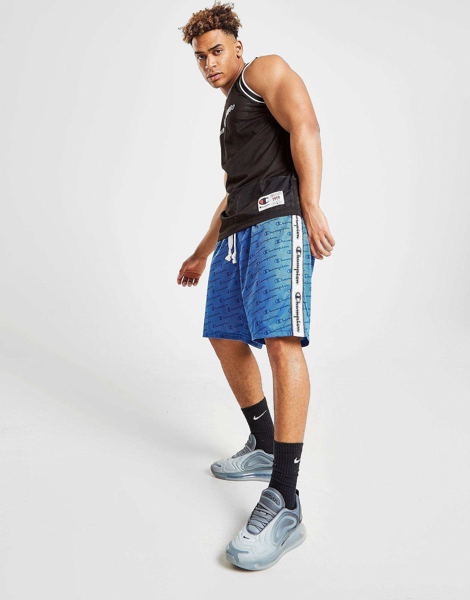 Champion All Over Print Shorts Heren - Blauw - Heren