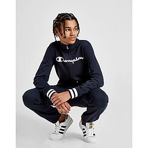 Champion Logo Full Zip Hooded Tracksuit Junior ... 673fd1cf0023
