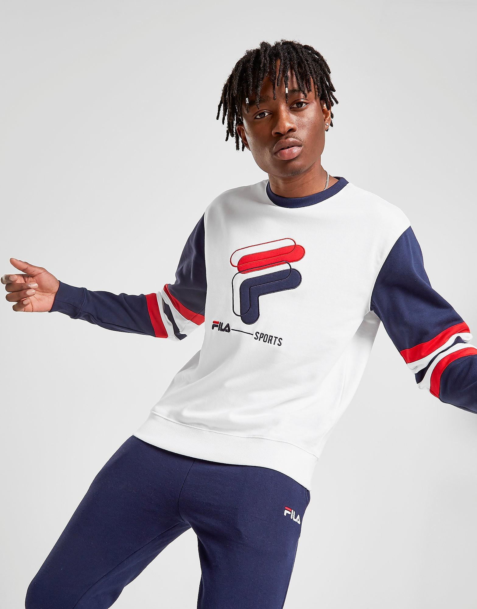 Fila Lambert Crew Sweatshirt Heren - Wit - Heren