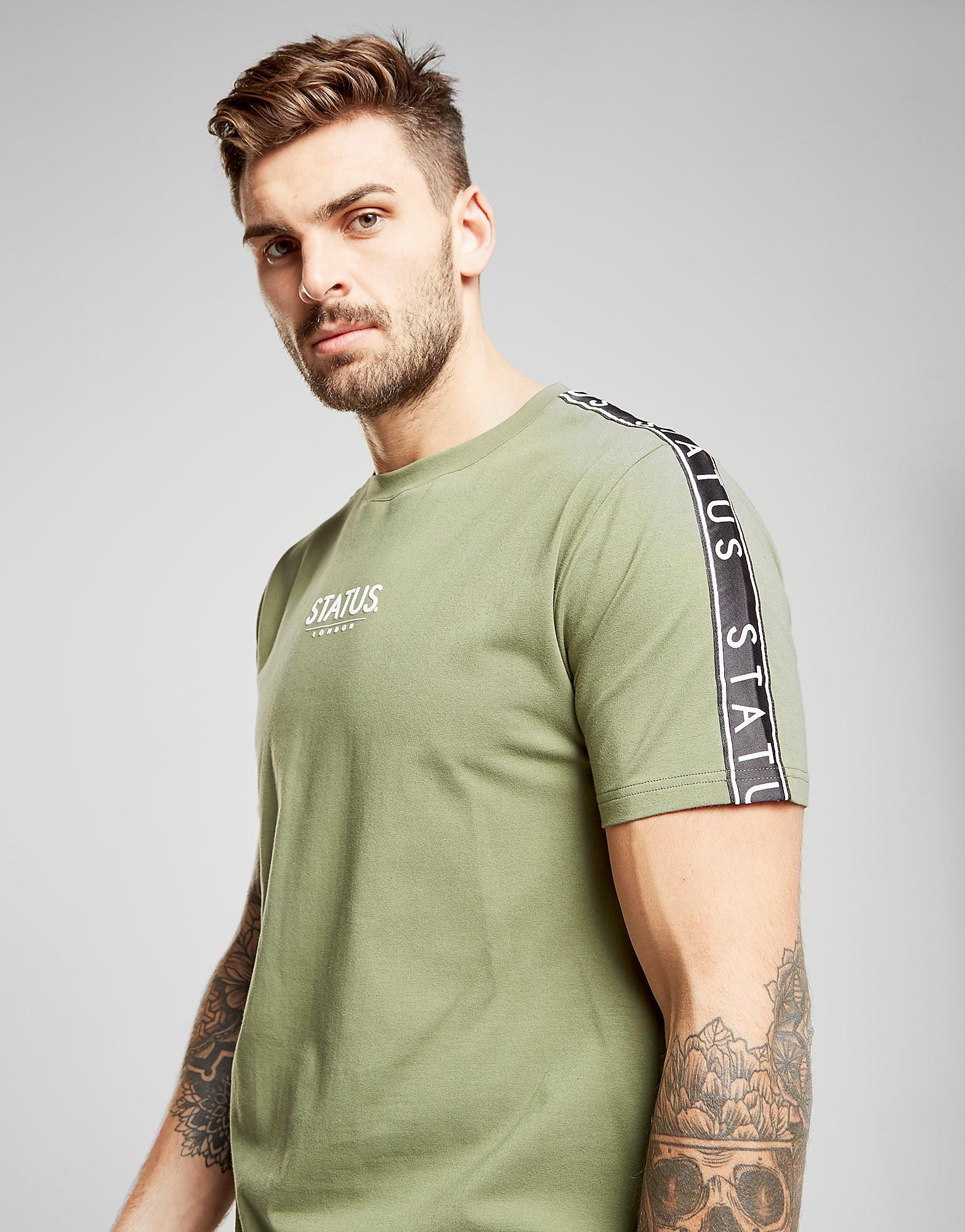 STATUS Wilson T-Shirt Heren - Khaki/Black - Heren