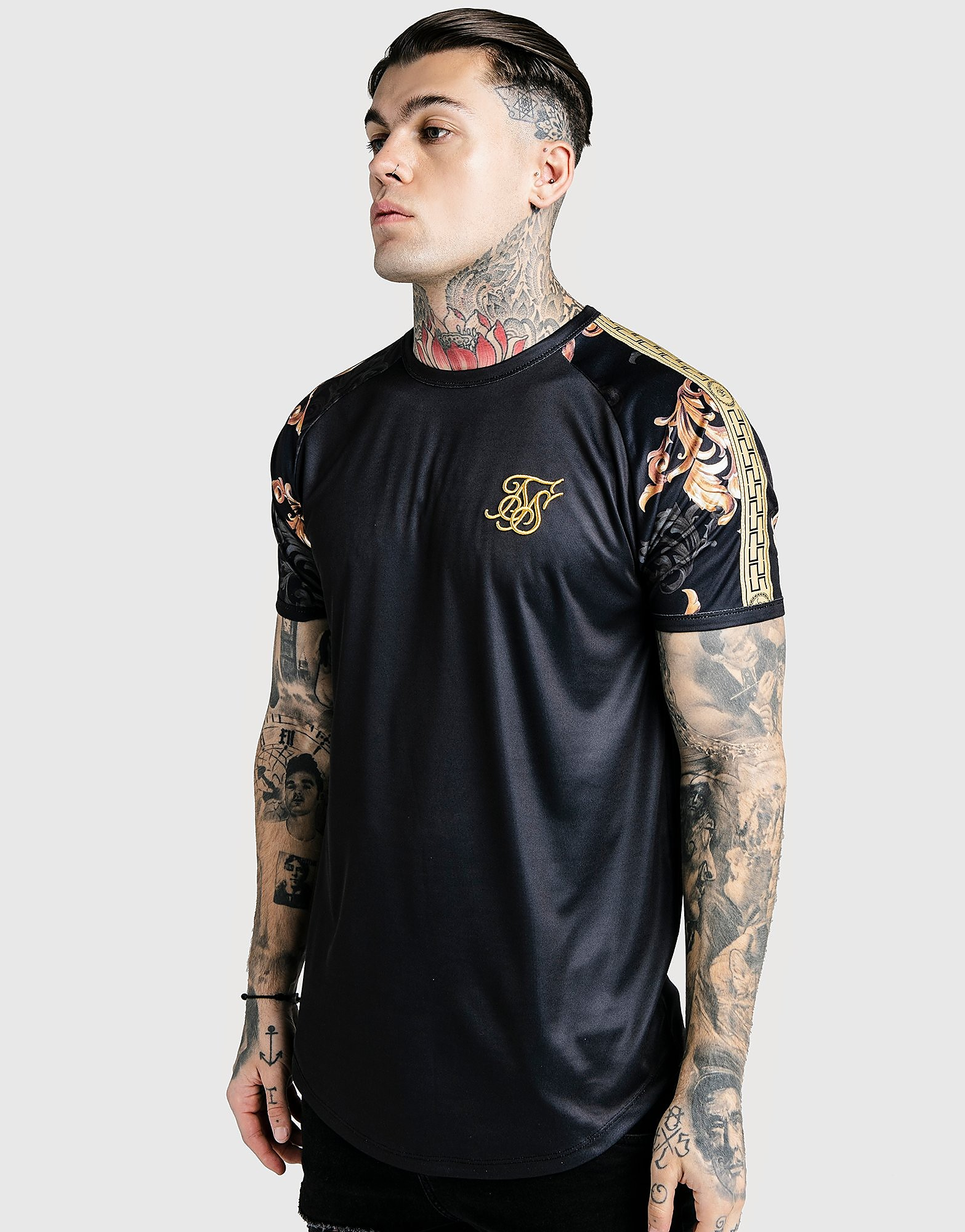 SikSilk x Dani Alves Reflective Gym T-Shirt Heren - Zwart - Heren