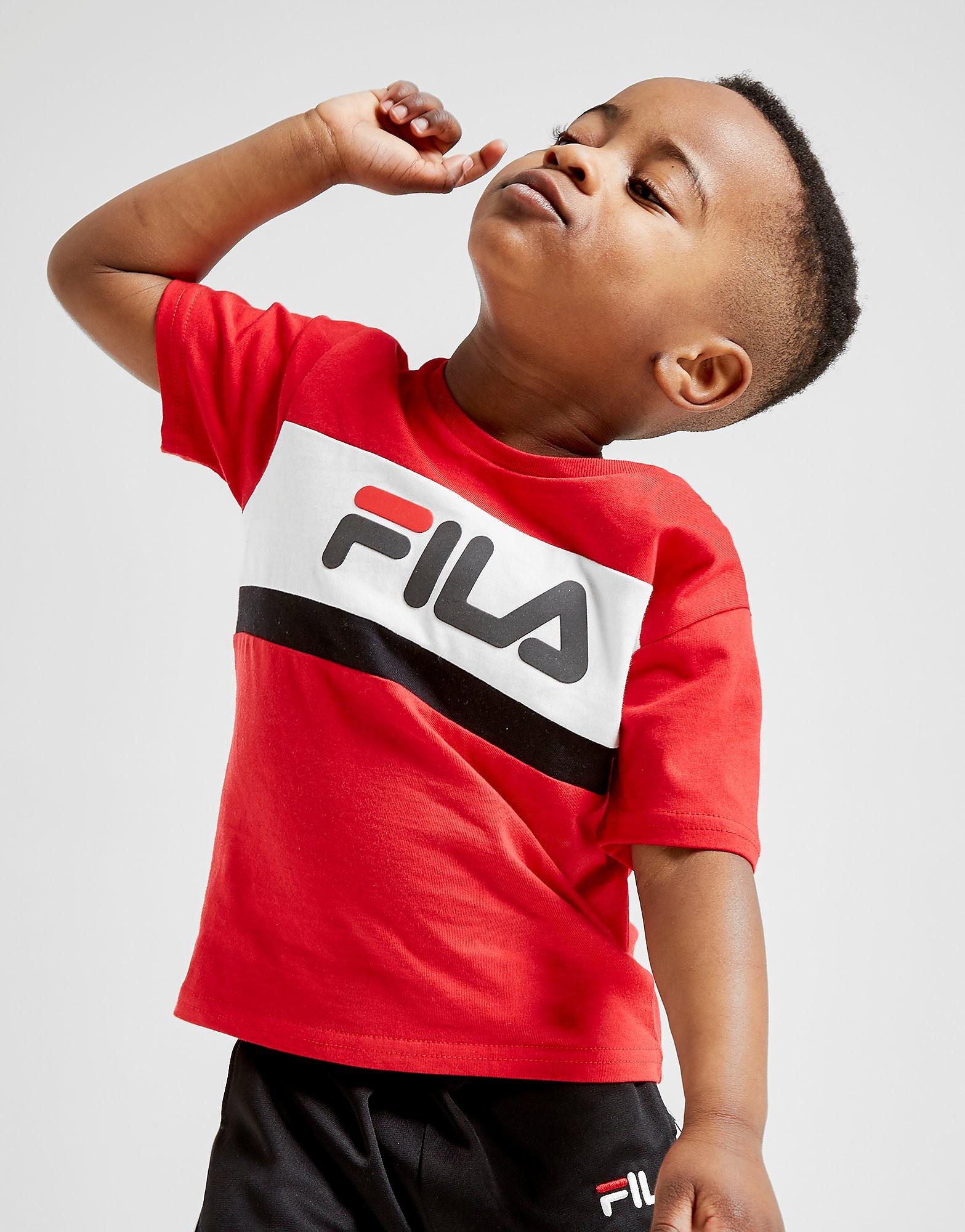 Fila Atreo T-Shirt Baby's - alleen bij JD - Rood - Kind