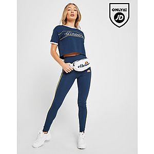 59d01a774a7b ... Ellesse Piping Crop T-Shirt