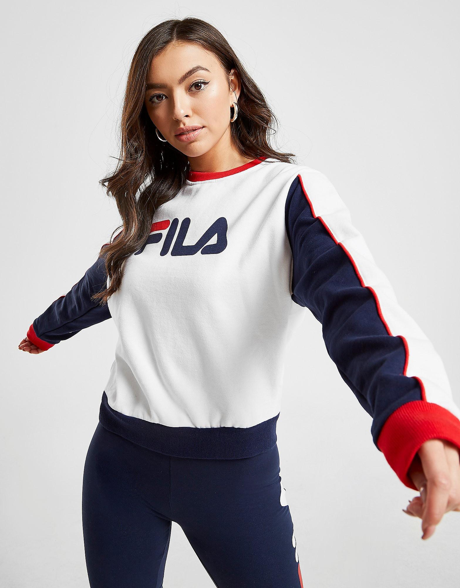 Fila Logo Panel Crew Sweatshirt Dames - Wit - Dames