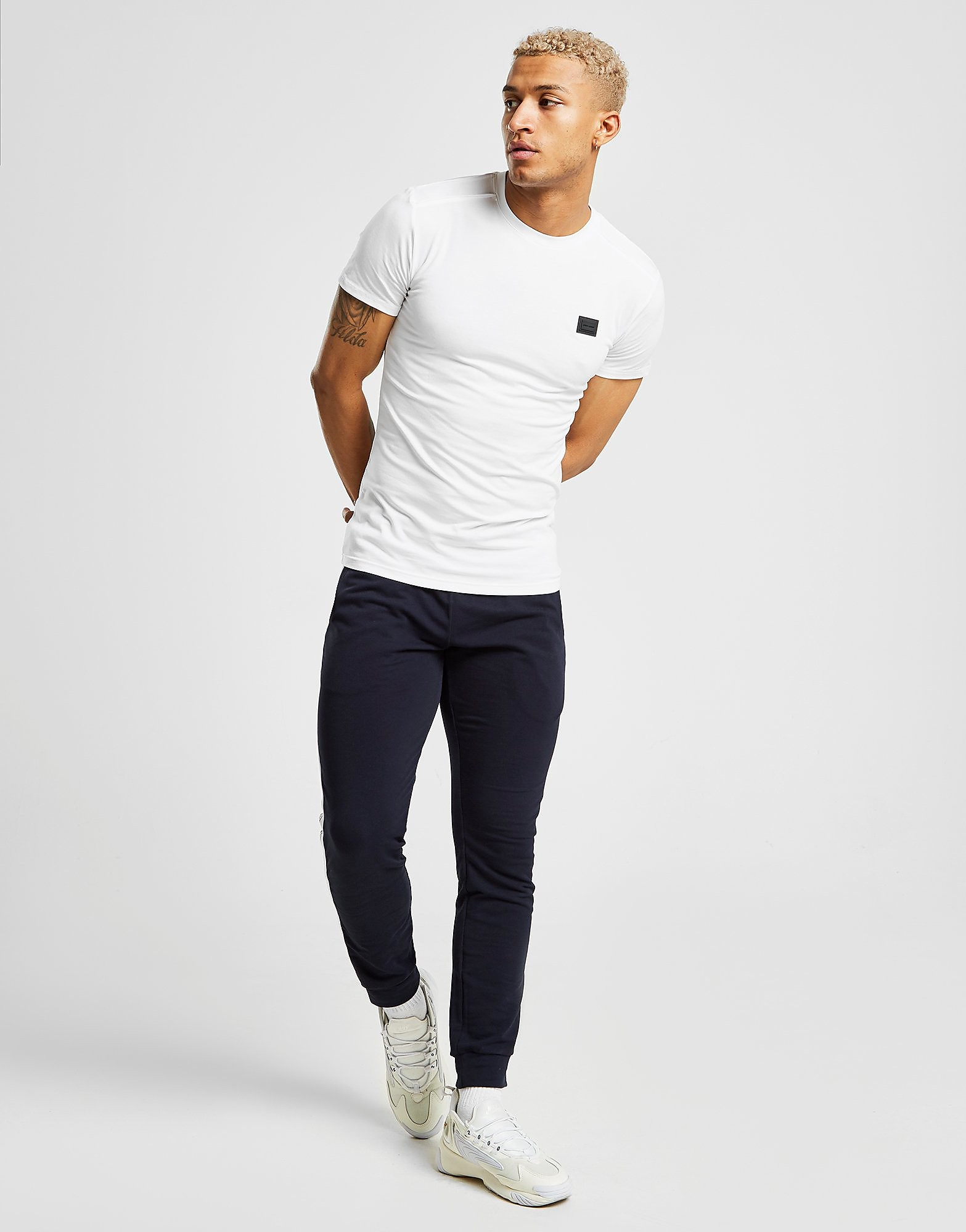 Antony Morato Core Badge T-Shirt Heren - Wit - Heren