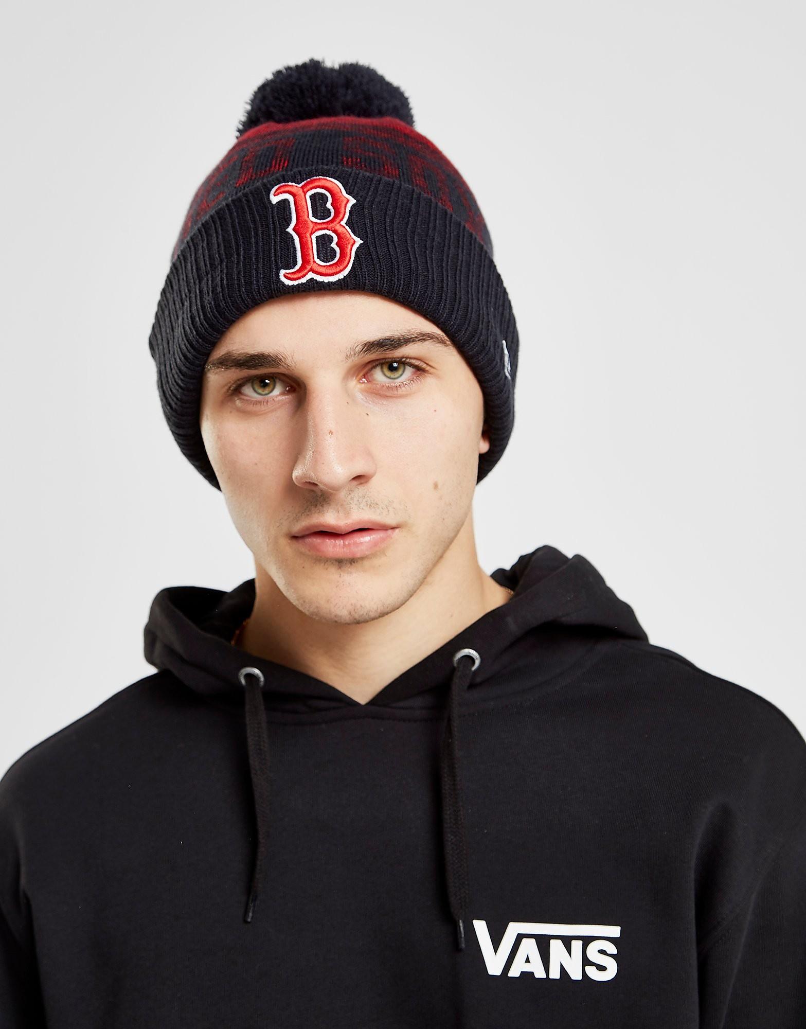 New Era MLB Boston Red Sox Pom Beanie - Blauw - Heren