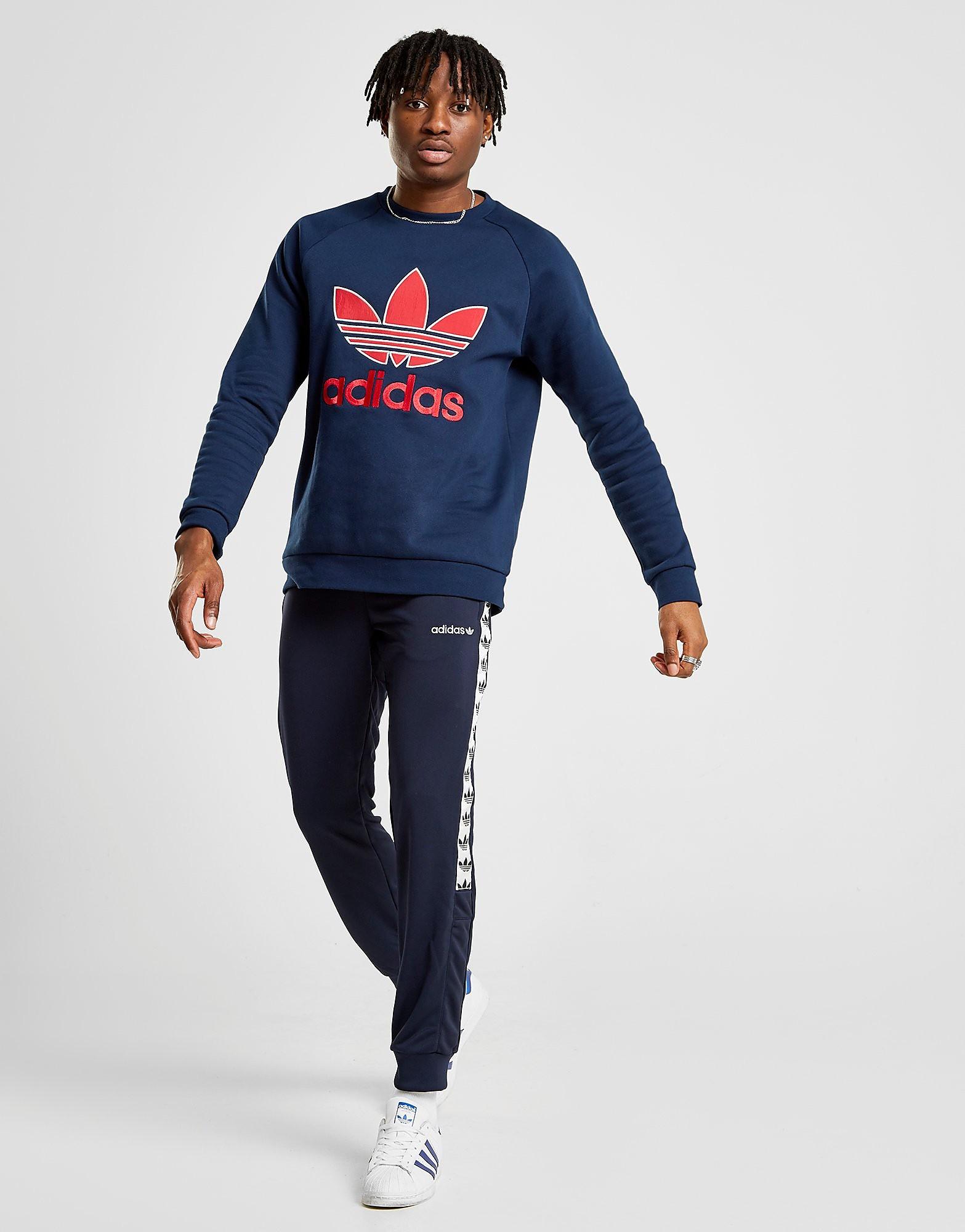 adidas Originals Tape Poly Trainingsbroek Heren - alleen bij JD - Blauw - Heren