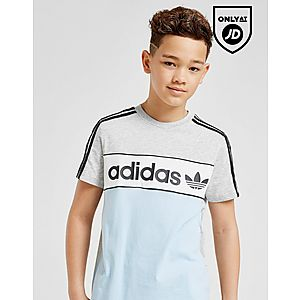 check out 587ef 3850e adidas Originals Linear Colour Block T-Shirt Junior ...
