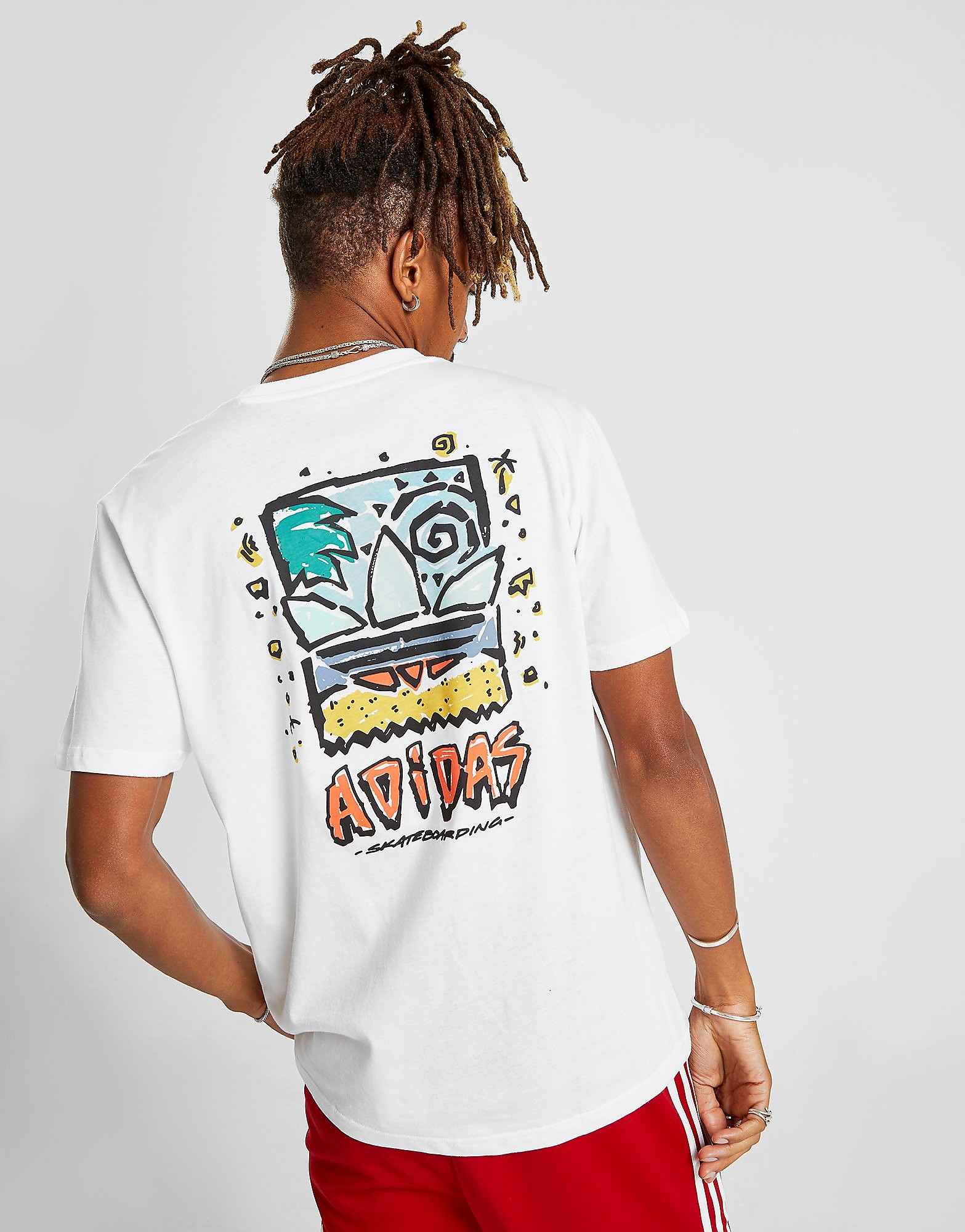 adidas Originals Skateboarding Roanoke T-Shirt Heren - Wit - Heren