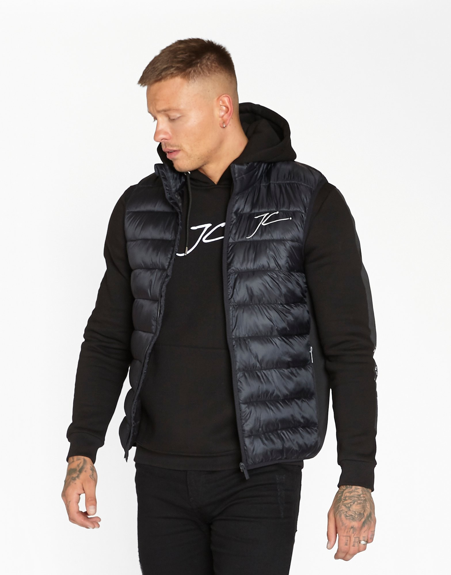 JAMESON CARTER Bubble Gilet Heren - Zwart - Heren