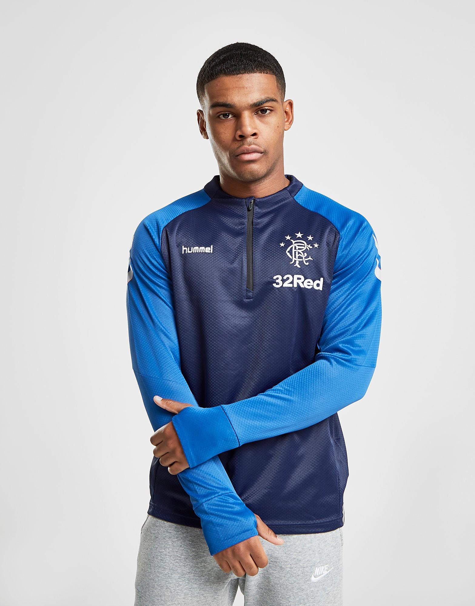 Hummel Rangers FC Training 1/2 Zip Top Heren - Blauw - Heren