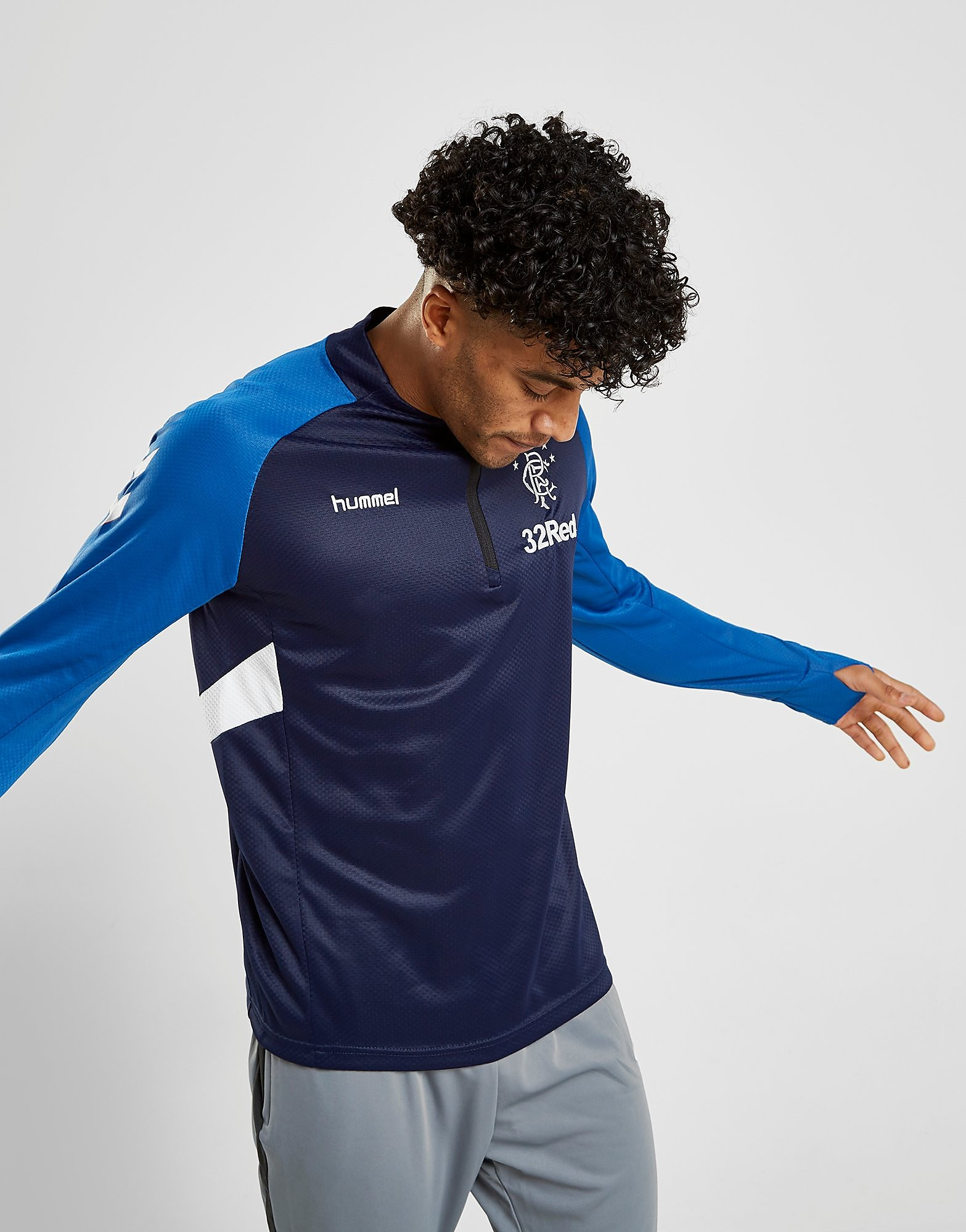 Hummel Rangers FC Training 1/2 Zip Top Heren PRE ORDER - Blauw - Heren