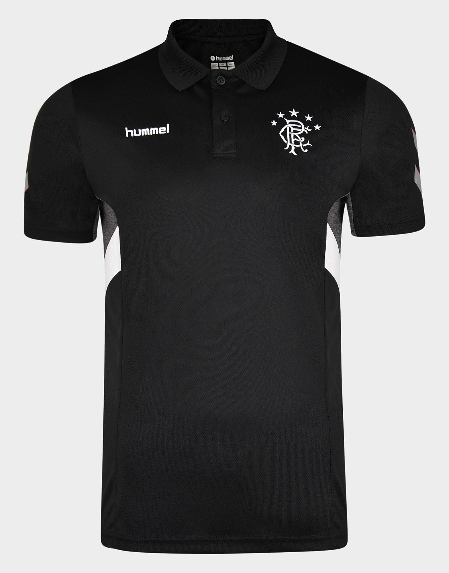 Hummel Rangers FC Travel Polo Shirt Heren - Zwart - Heren