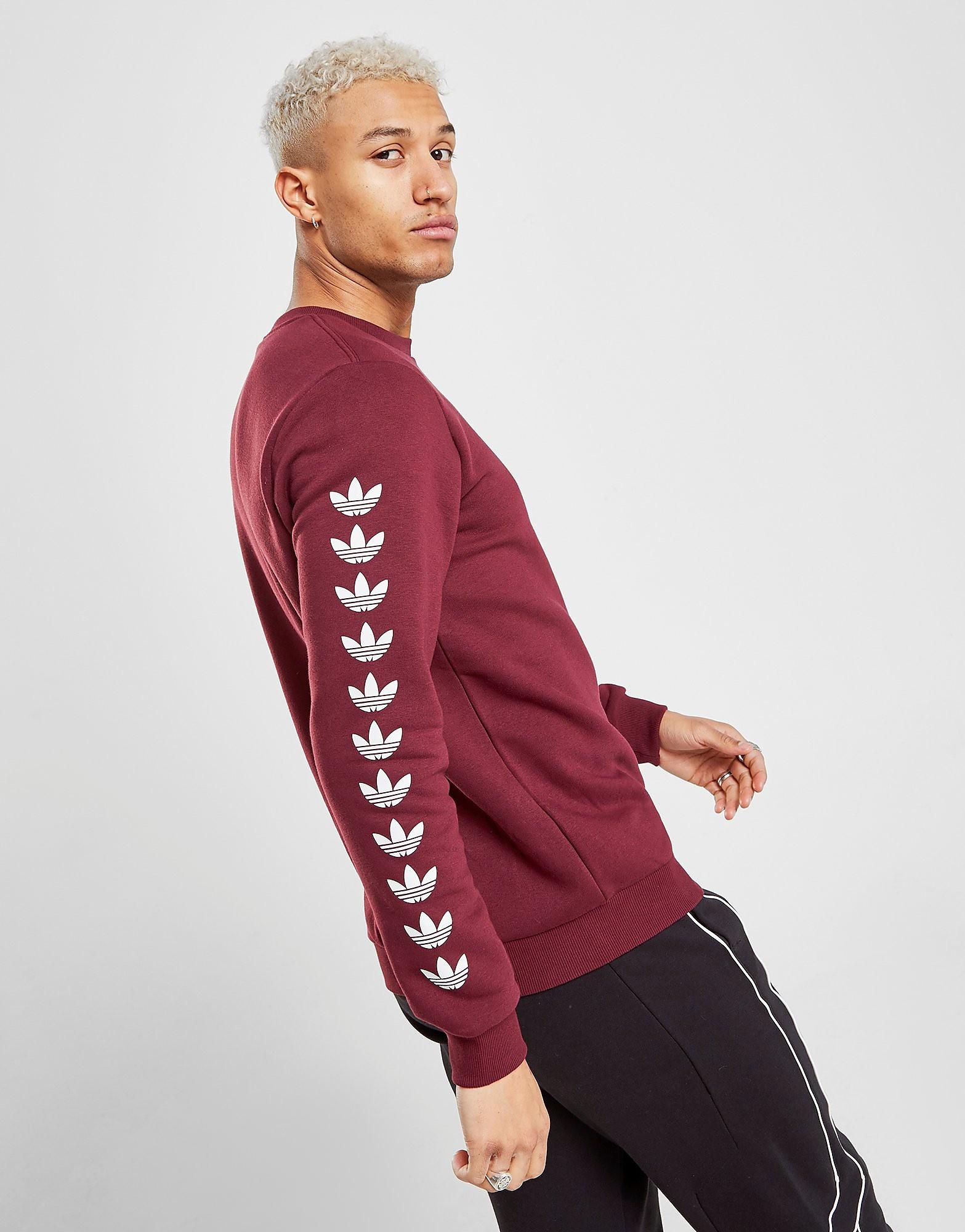 adidas Originals Tape QQR Crew Sweatshirt Heren - alleen bij JD - Rood - Heren