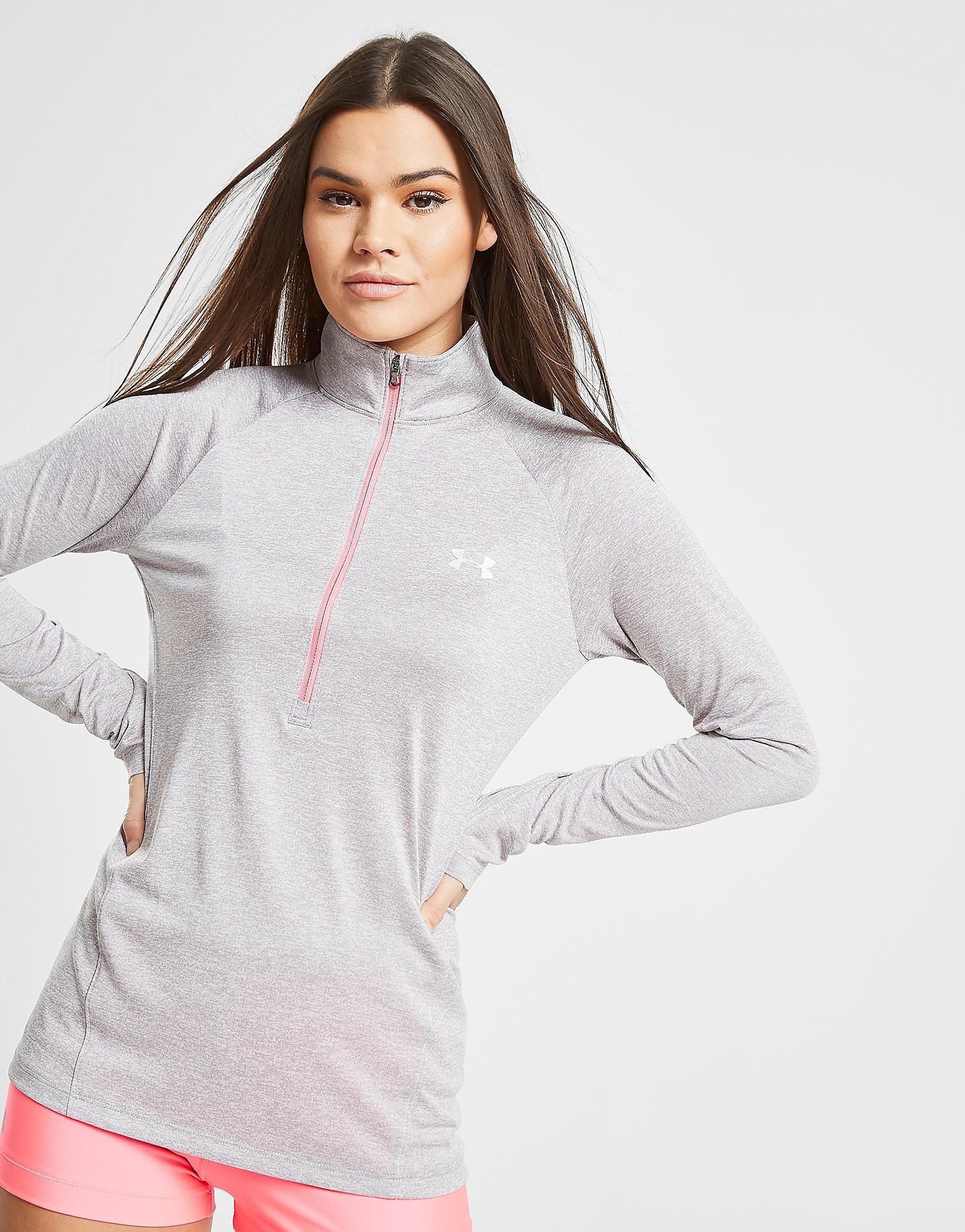 Under Armour Tech 1/2 Zip Sweatshirt Dames - Grijs - Dames