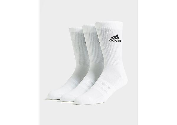adidas 3 Pack Crew Socks, White