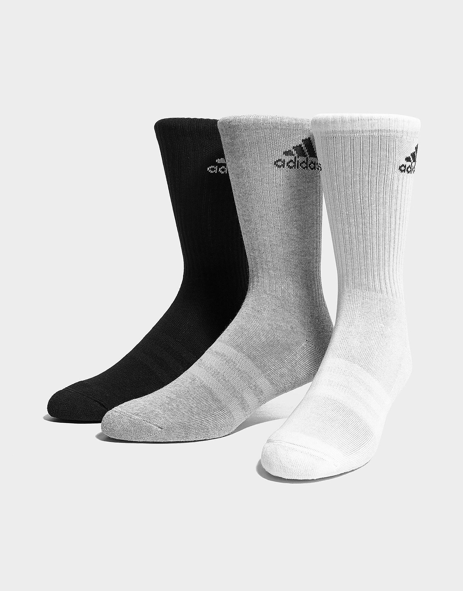 adidas 3 Pack Crew Socks