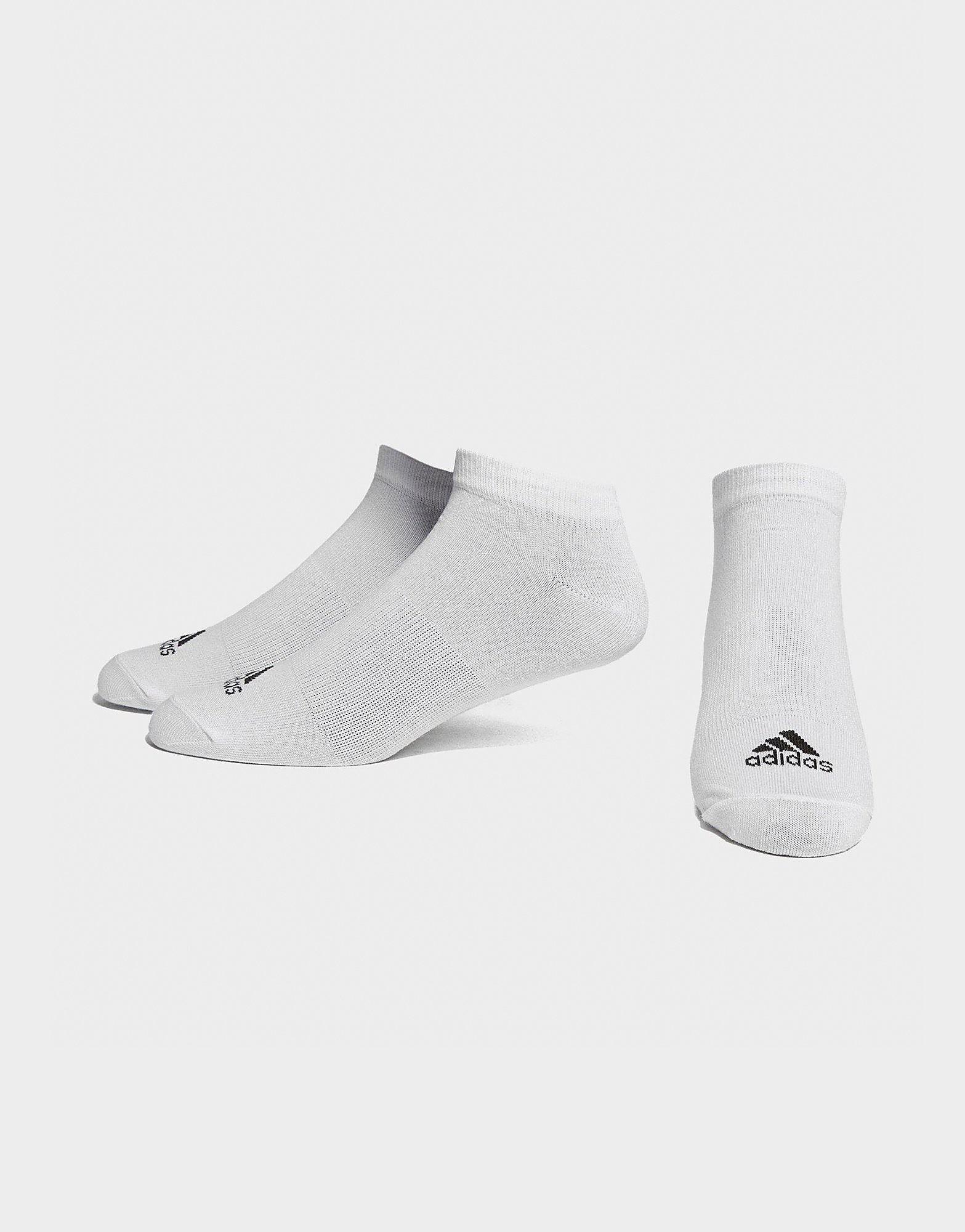 adidas 3 paar onzichtbare sokken - Wit - Heren