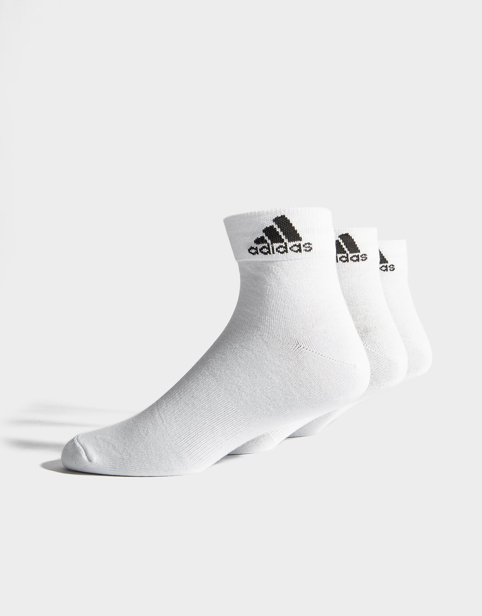 adidas 3 Pack Sport Quarter Socks