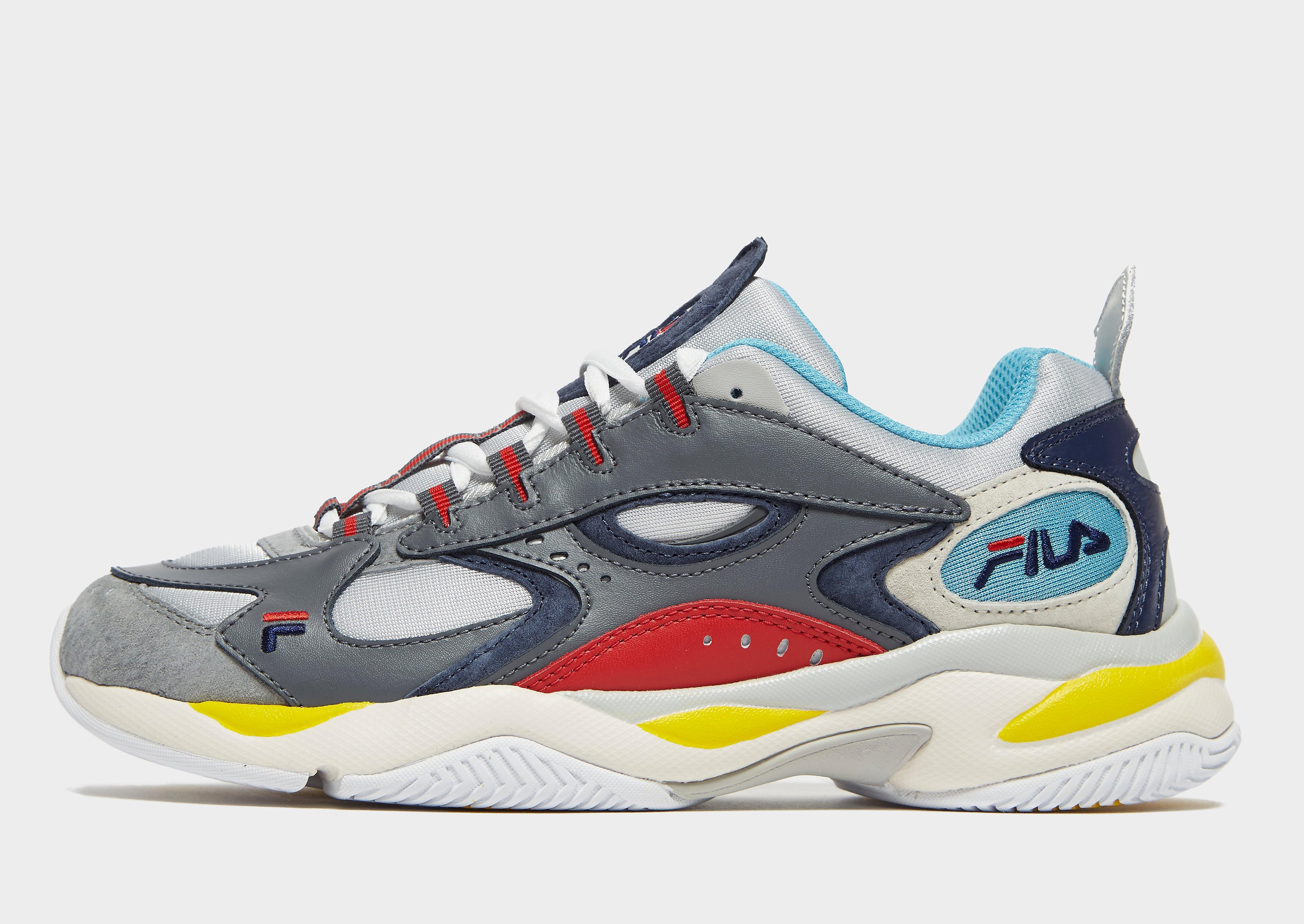 Fila herensneaker grijs, blauw, rood en geel