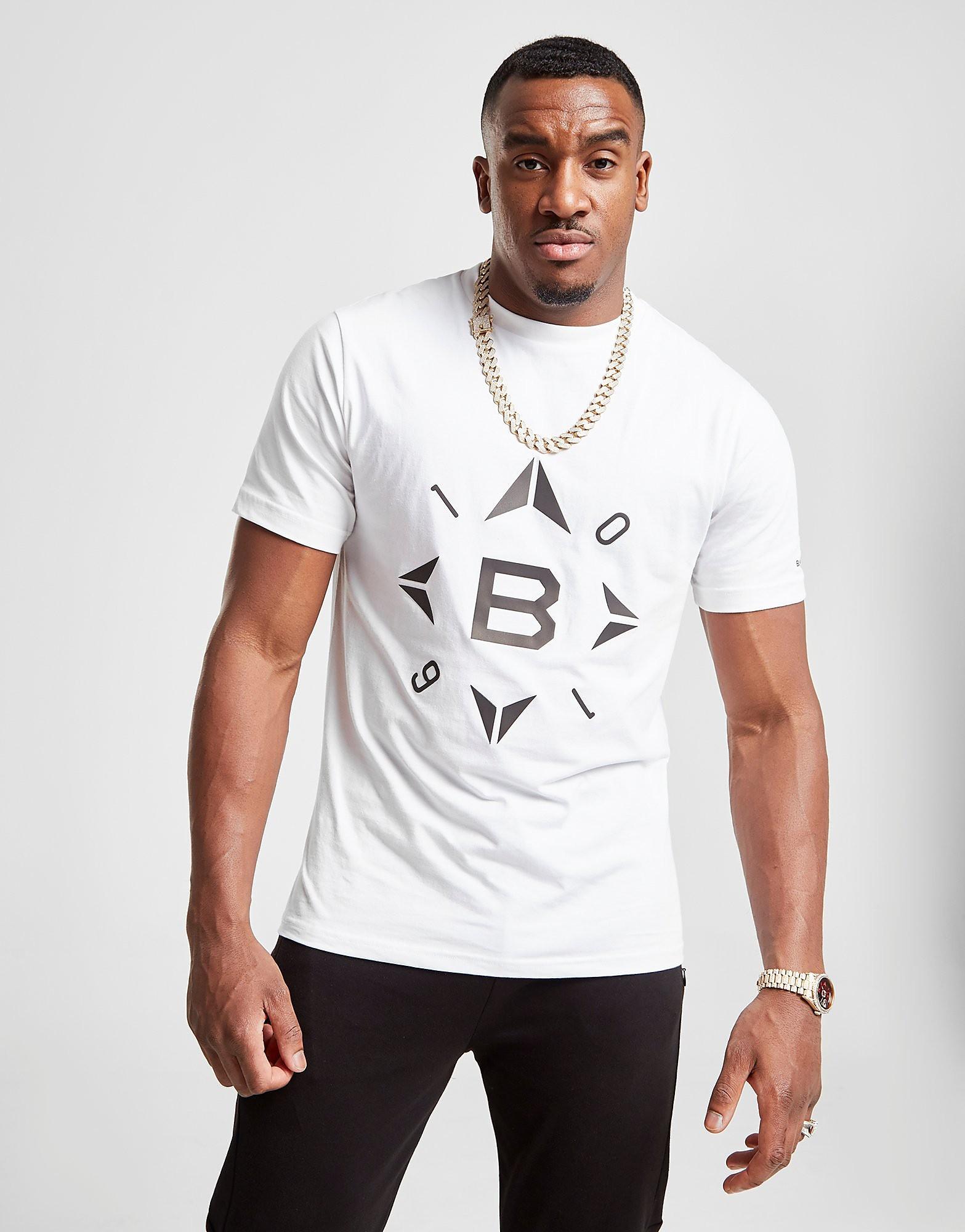 B Malone 0161 T-Shirt Heren - Wit - Heren