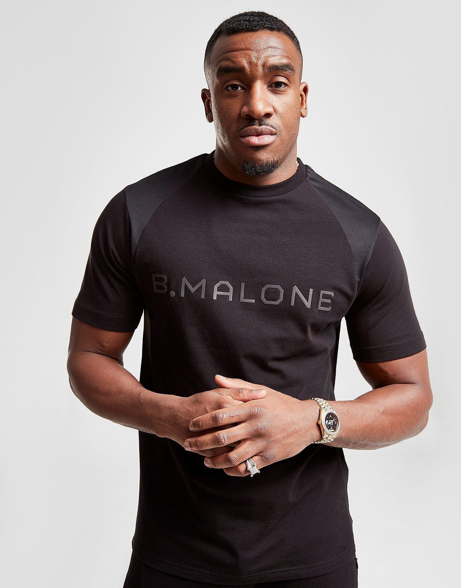B Malone T-Shirt Heren - Zwart - Heren