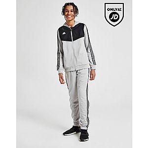 adidas Originals Tiro Hooded Poly Tracksuit Junior ... f92c118a886