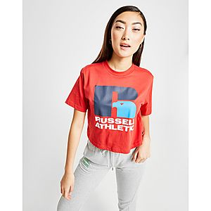 709cc5c39 Russell Athletic Eagle Logo Crop T-Shirt ...