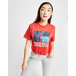 Russell Athletic Eagle Logo Crop T-Shirt ... 3e5af5fed