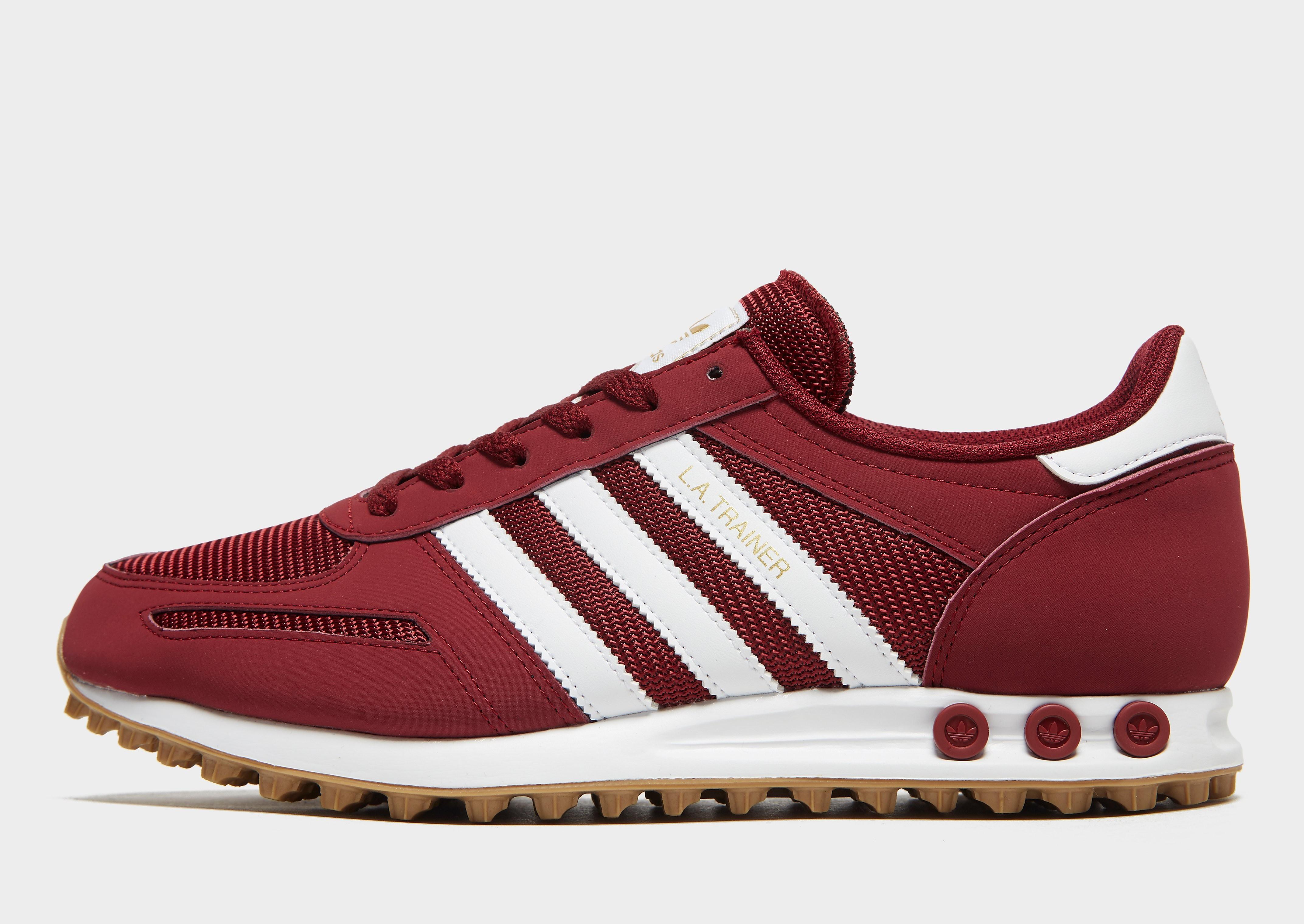 Adidas LA Trainer herensneaker rood en wit