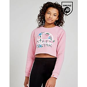 5e2562ab2ed7b8 Ellesse Girls  Crop Floral Crew Sweatshirt Junior ...