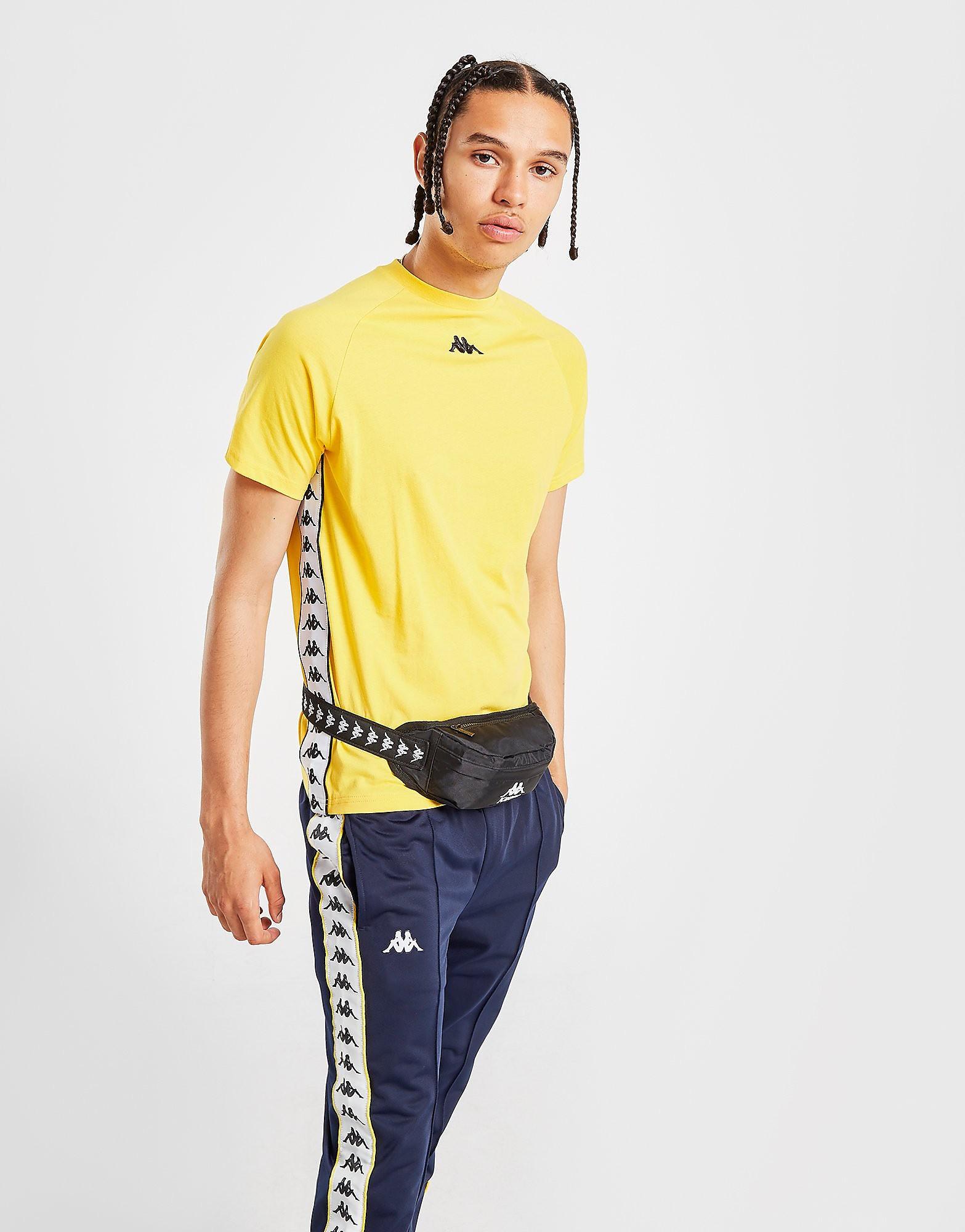 Kappa Balmino T-Shirt Heren - alleen bij JD - Geel - Heren