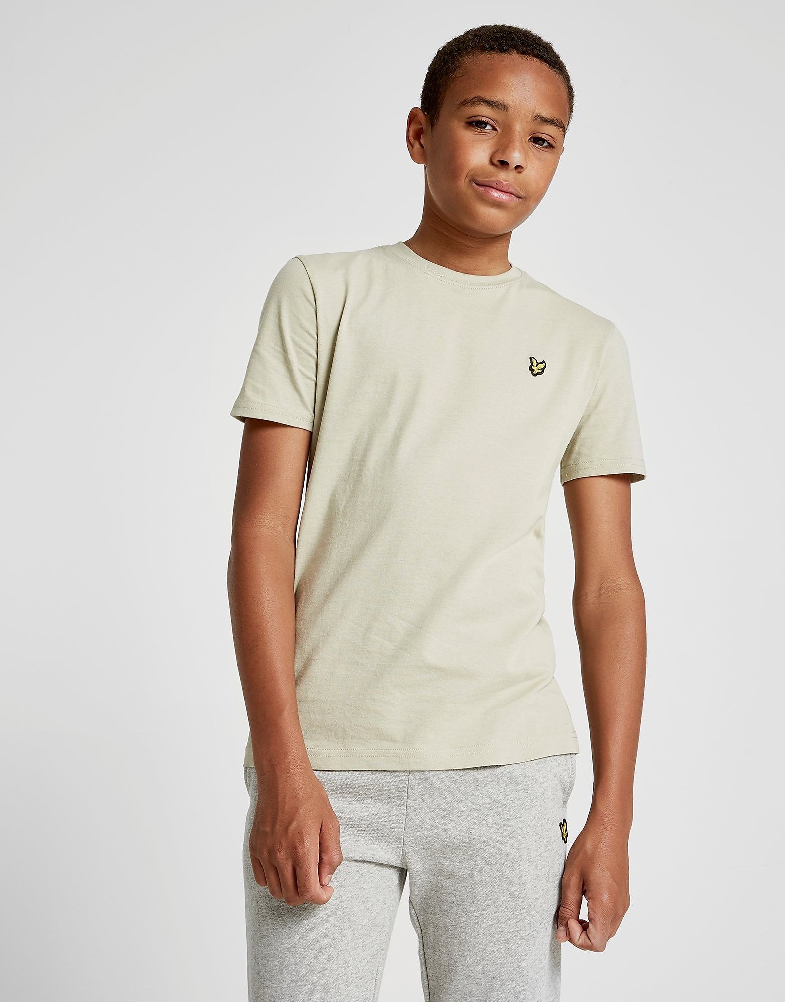 Lyle & Scott Short Sleeve Logo T-Shirt Junior - Beige - Kind